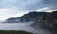 The sea of cloud at a fantastic rock