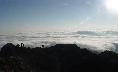 a fabulous sea of clouds at Cheonwangbong Peak.